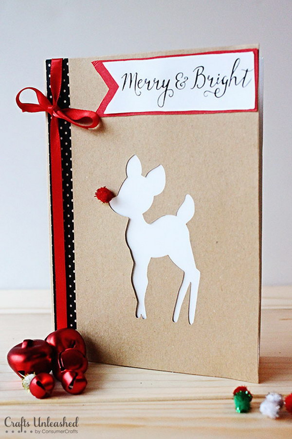 Rudolph DIY Christmas Cards.