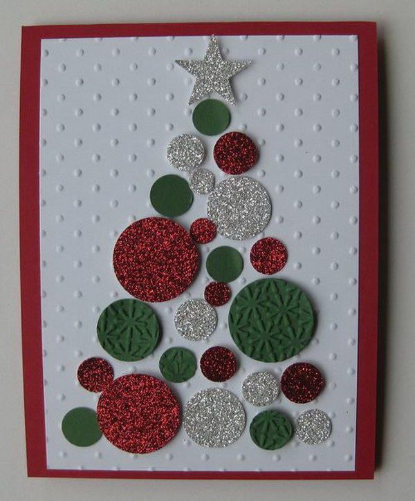 Glitter Christmas Tree DIY Card.
