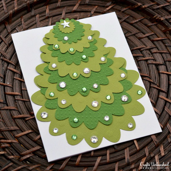 Die Cut Christmas Card.