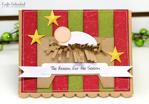 DIY Traditional Christmas Card.