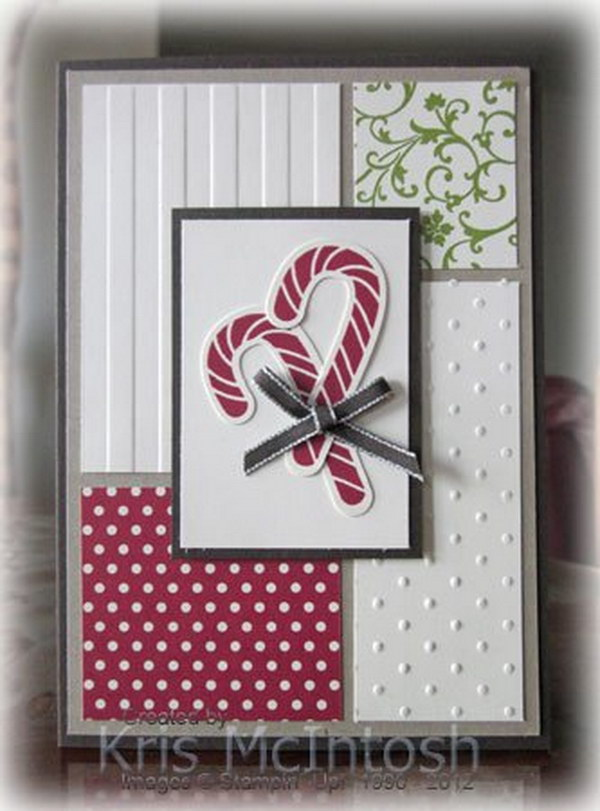 Candy Cane Christmas Card.
