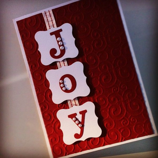JOY Christmas Card.