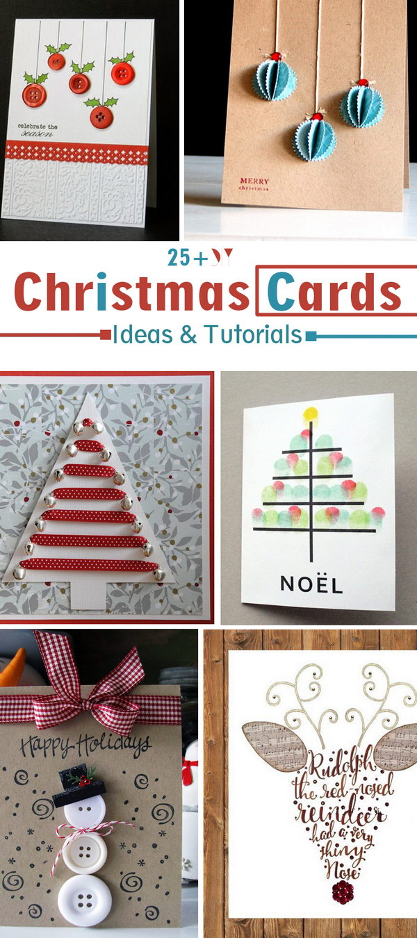 DIY Christmas Cards Ideas & Tutorials!