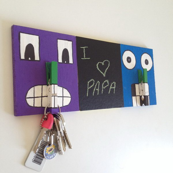 DIY Key Holder for Dad