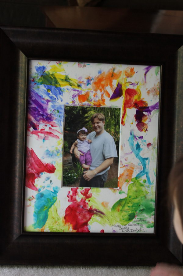 Father's Day Finger-Painted Picture from Toddlers