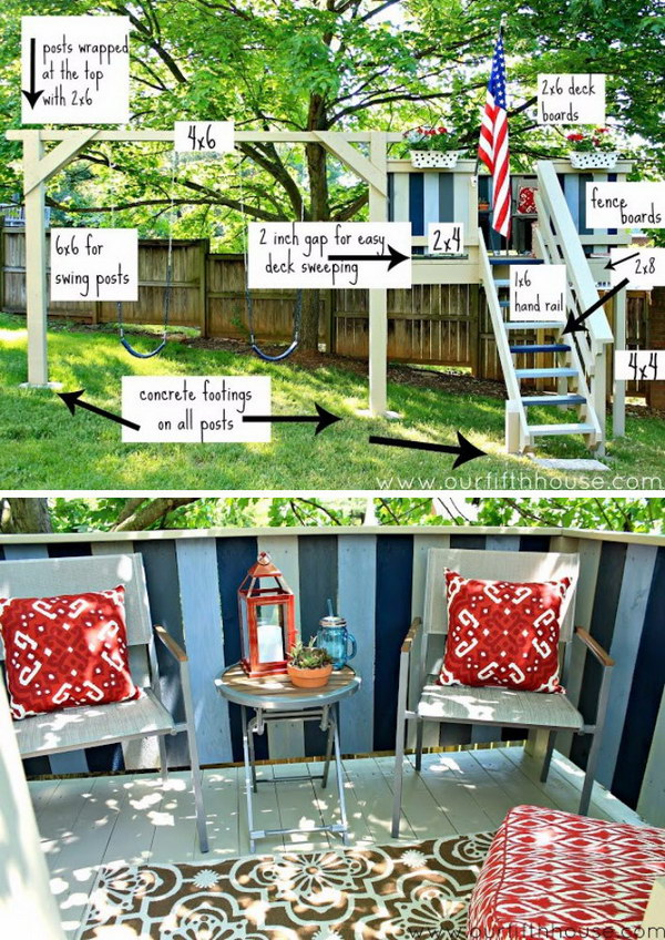 DIY Swing Set & Playhouse.