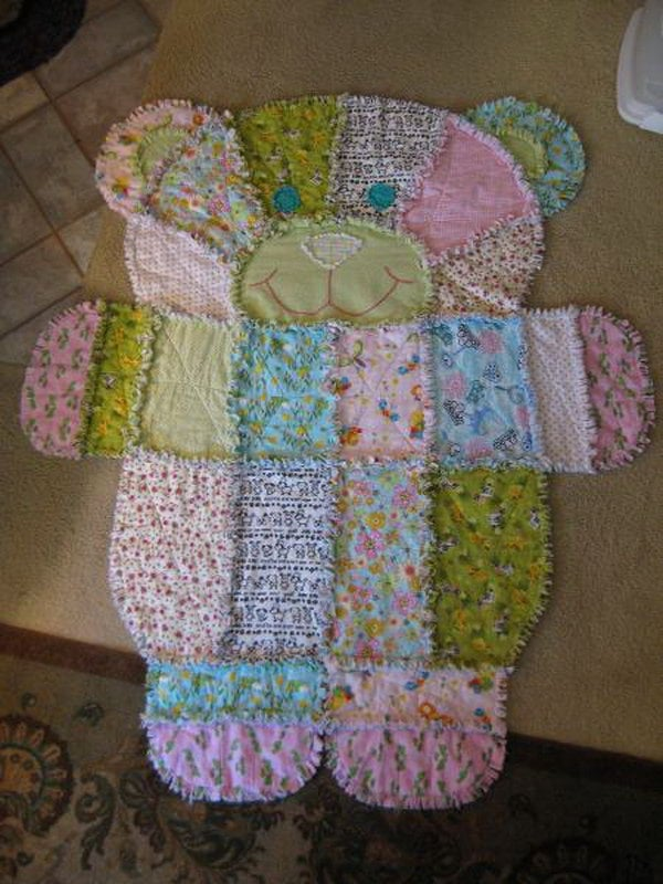 Teddy Bear Baby Rug. How Cute Would This Be In A Vintage Bear Themed Little