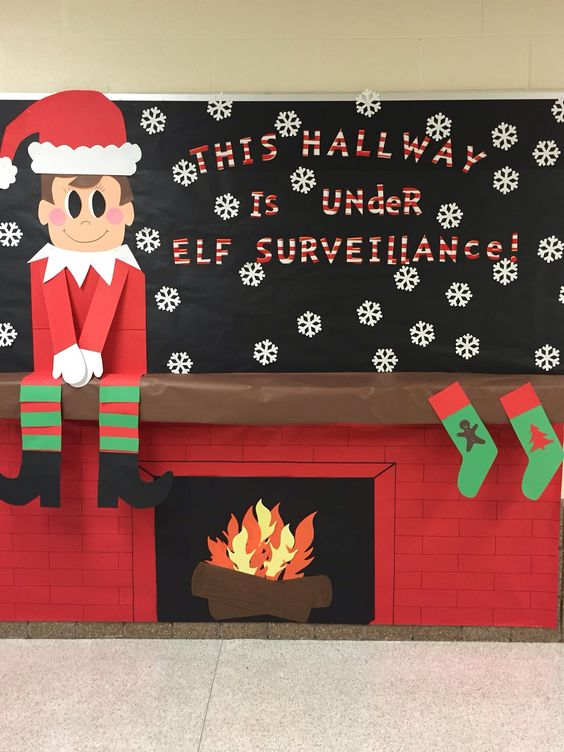This Hallway Is Under Elf Surveillance.