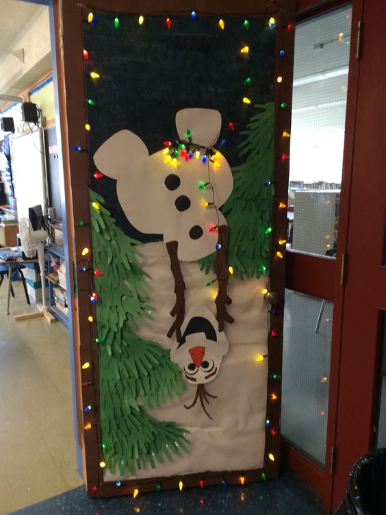 Olaf Holiday Door Decoration for School.