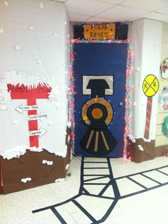 Polar Express Christmas Door Decoration.