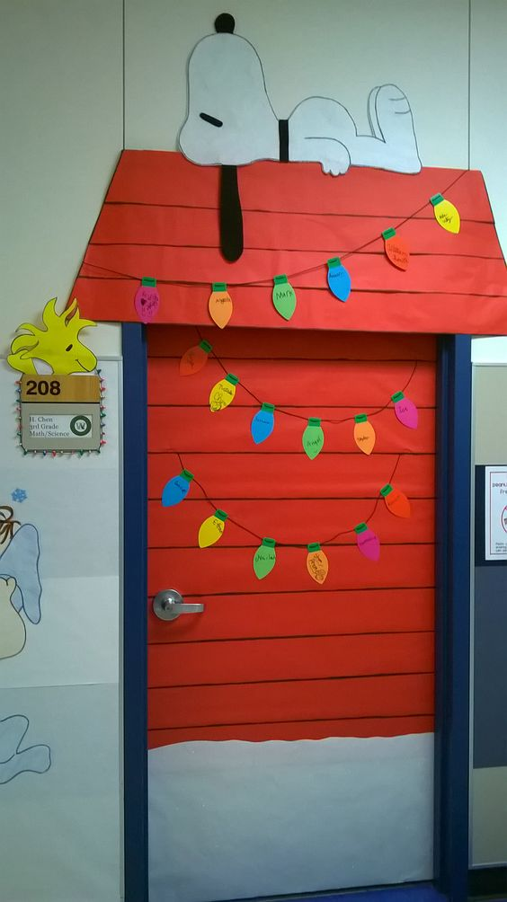 Charlie Brown Christmas Classroom Door Decoration.