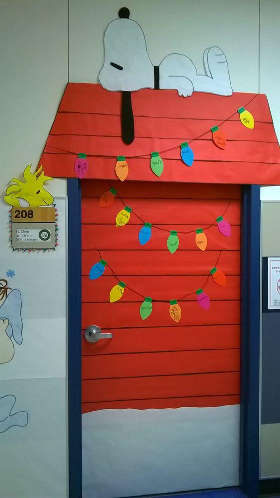 Charlie Brown Christmas Classroom Door Decoration.