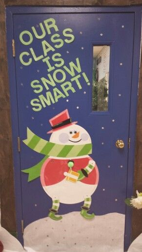 Awesome classroom decorations for winter christmas Class door winter decorations
