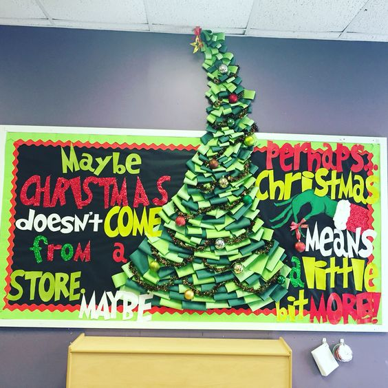 how the grinch stole christmas bulletin board