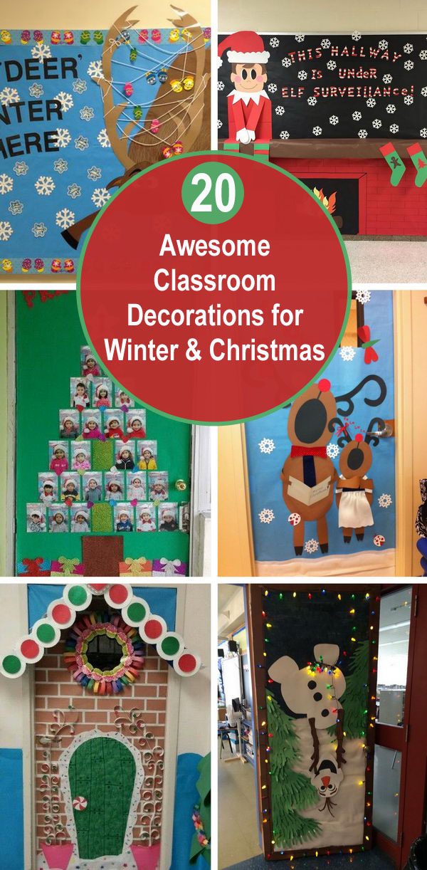20 Awesome Classroom Decorations for Winter & Christmas.