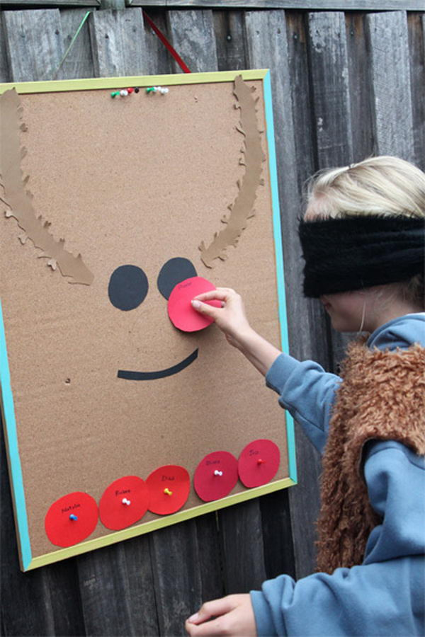 Pin the Nose on the Reindeer.