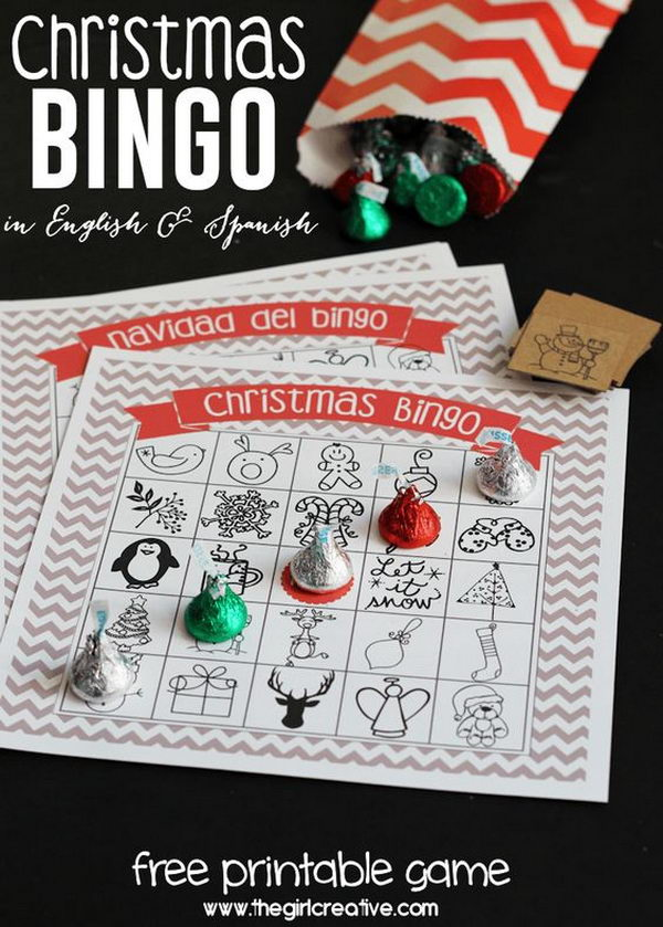 Printable Christmas Bingo Game.