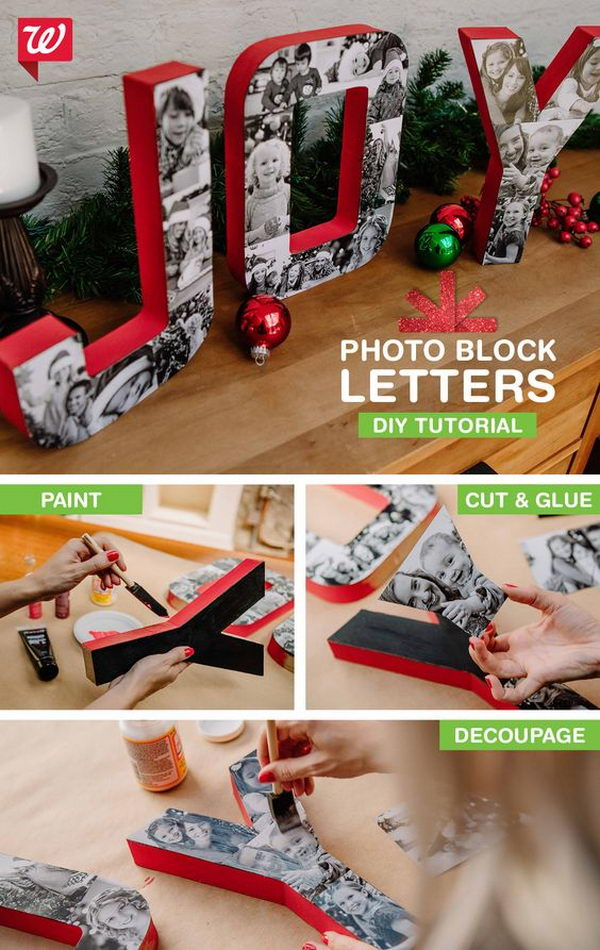 Turn Your Favorite Family Photos Into Swoon-Worthy Block Letters With this DIY Tutorial.