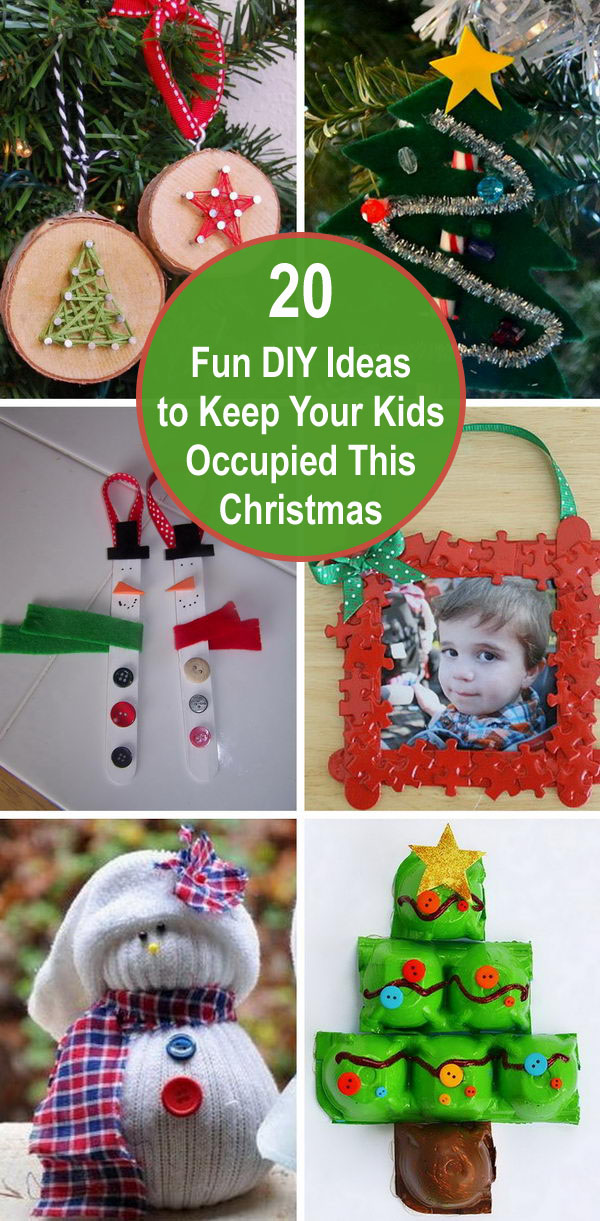 20+ Fun DIY Ideas To Keep Your Kids Occupied This Christmas.