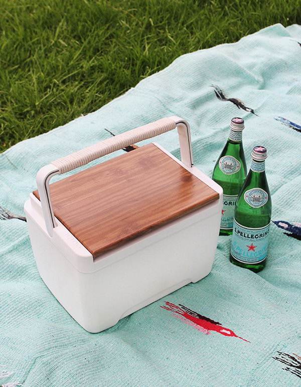 DIY Modern Cooler. Get the steps