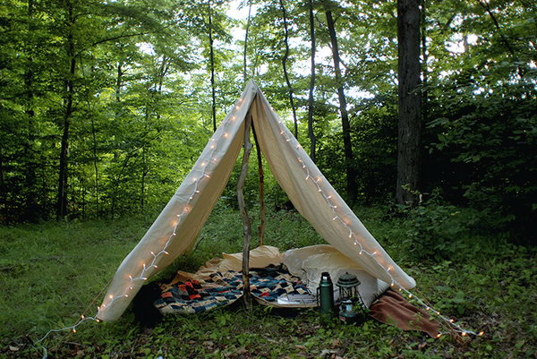 DIY Camping Tent. Get the tutorial
