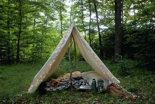 DIY Camping Tent. Get the tutorial