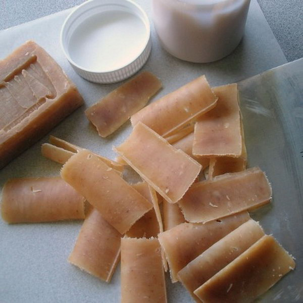 DIY Green Eco Friendly Single-use Soap Leaves.  See more