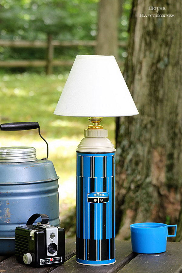 DIY Thermos Lamp. See the instructions