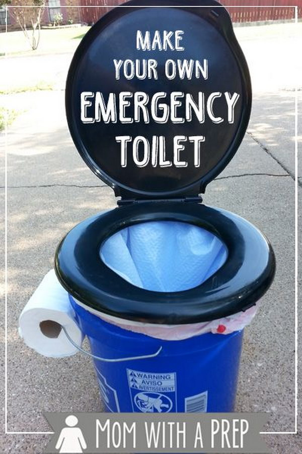 Make an Emergency Toilet. See the tutorial