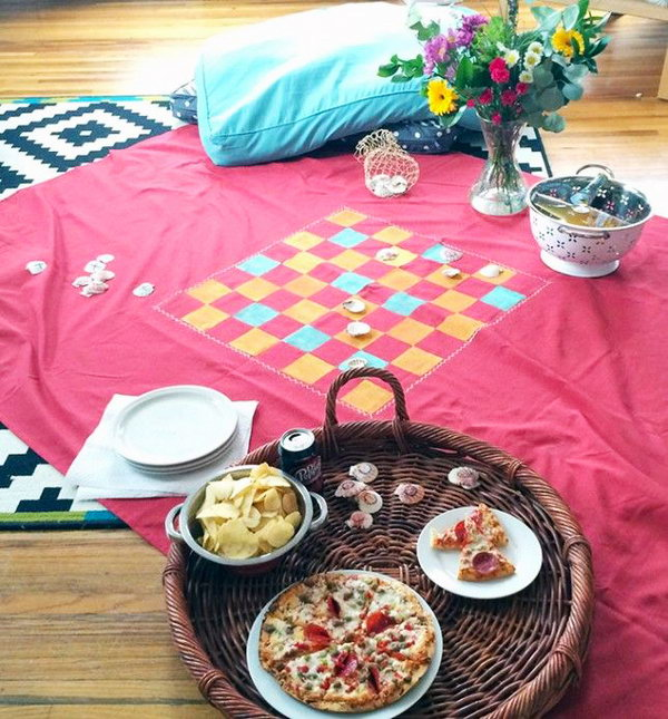 Picnic Blanket Game Board.