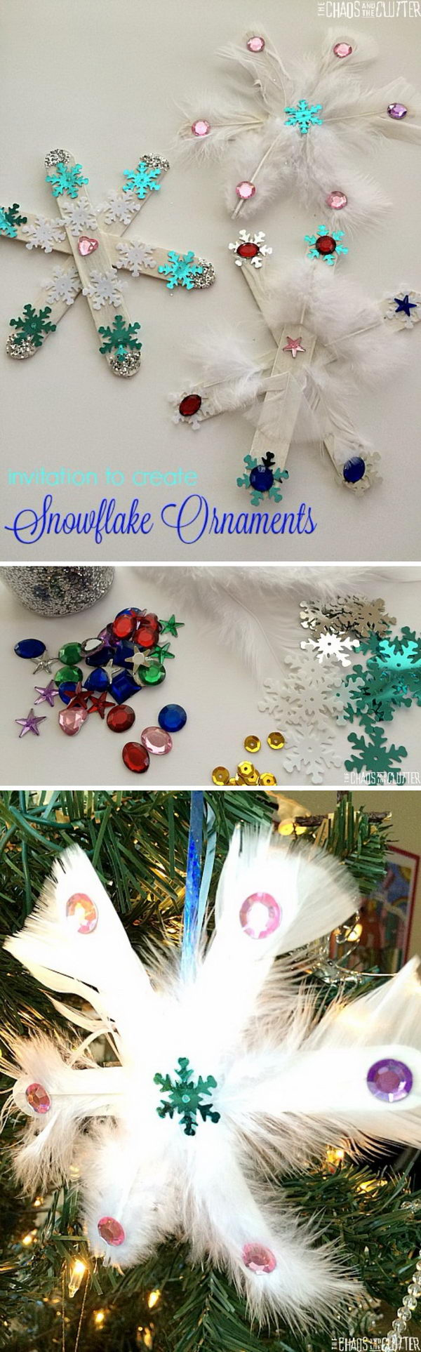 Use Popsicle Sticks to Create Snowflakes.