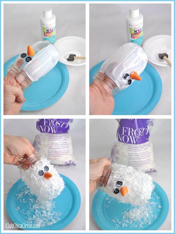 Snowman Mason Jar.