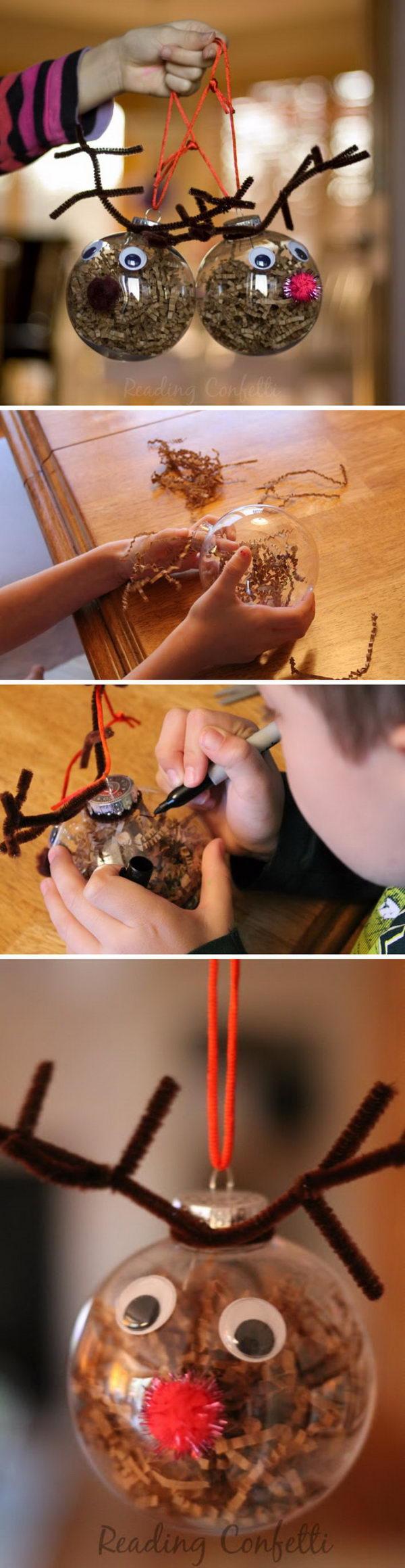 Cute And Easy Reindeer Ornaments.