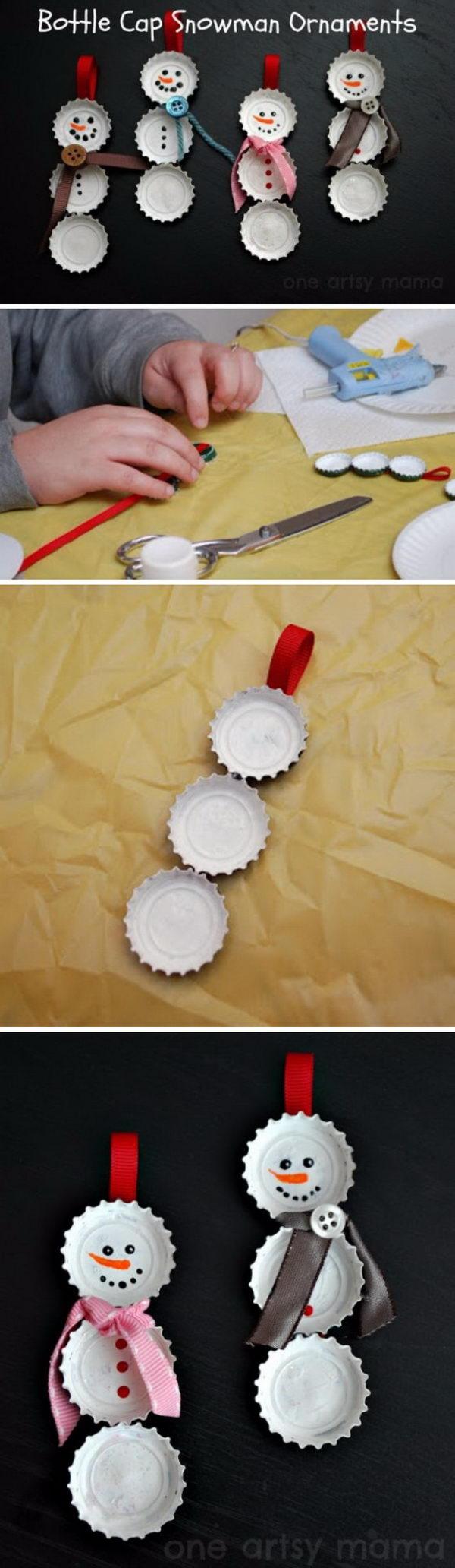 Cool DIY Snowman Christmas Ornament.