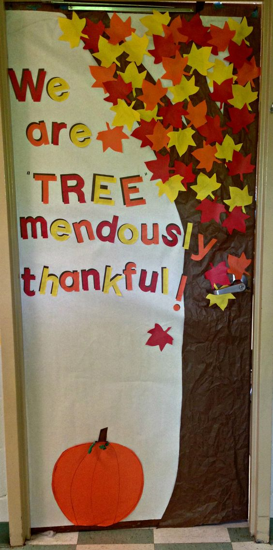 Thanksgiving Classroom Door Decorations Ideas ~ Addorable fall classroom decoration ideas