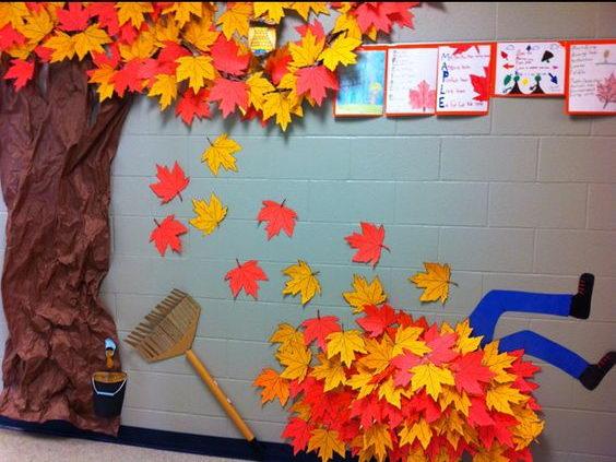 Fall Hallway Decoration.