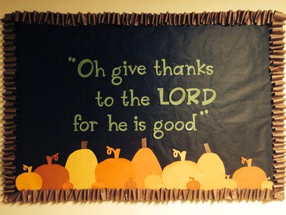 Fall Bulletin Board For Church Children.