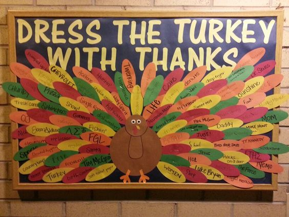 Dress The Turkey With Thanks.