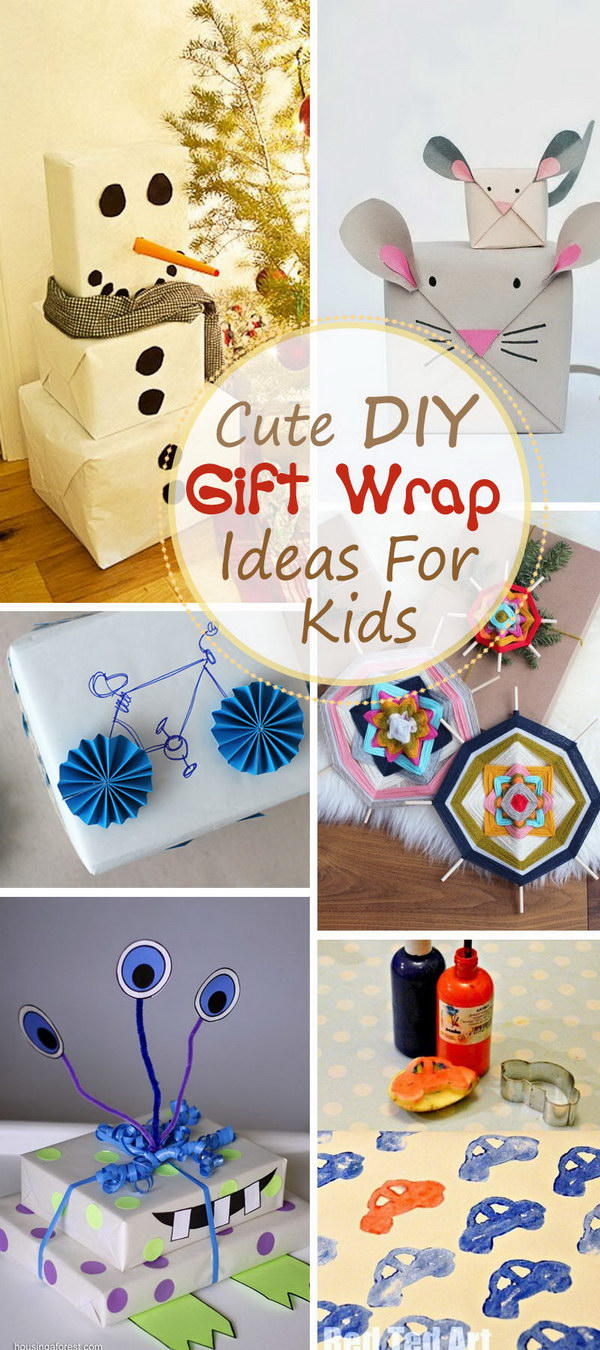 Cute DIY Gift Wrap Ideas For Kids!