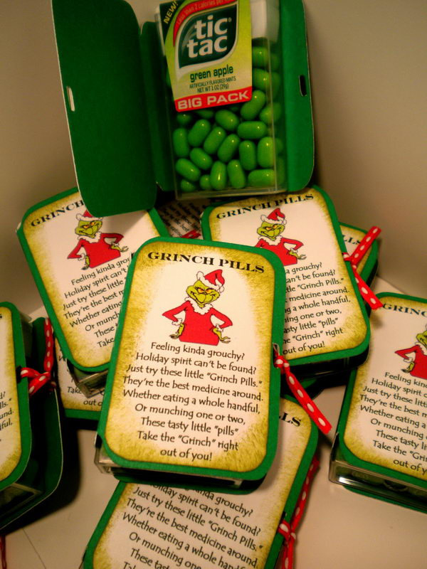 DIY Grinch Pills.
