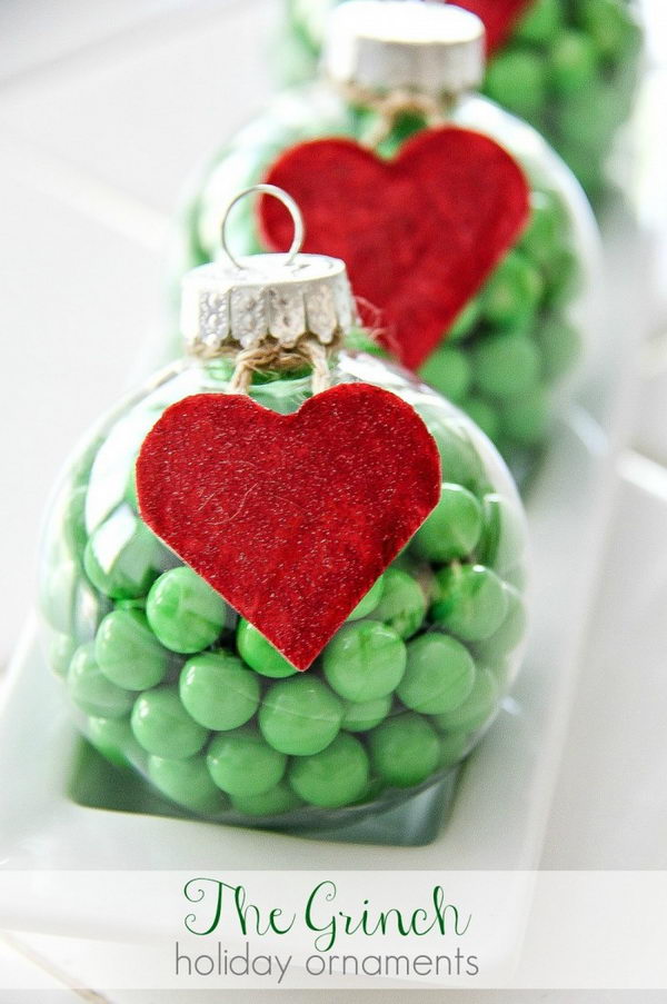 Grinch Candy Ornament.