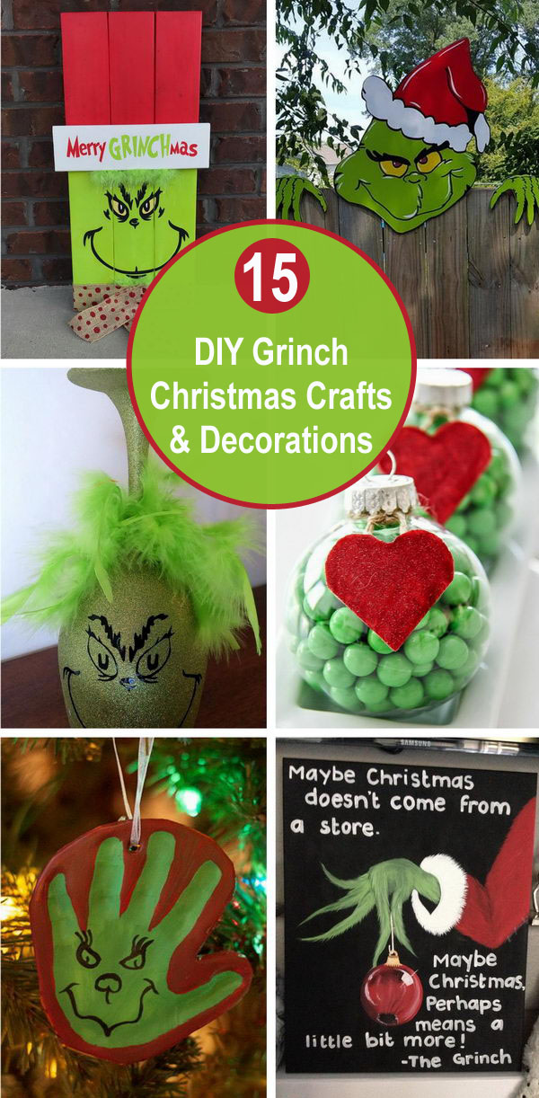 15 DIY Grinch Christmas Crafts and Decorations.