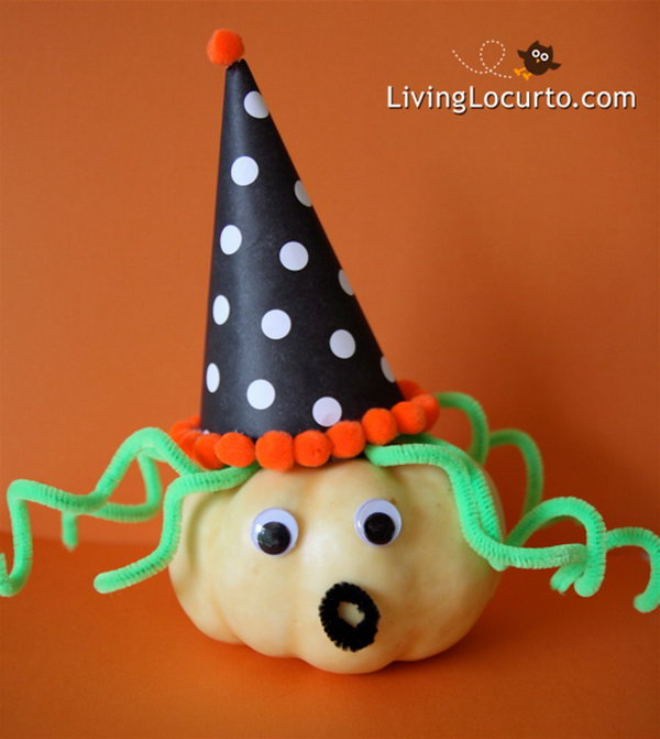 Easy to Make Pumpkin Witch.