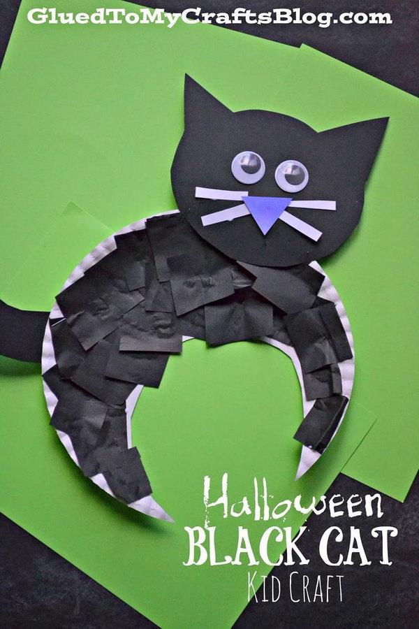 Cute DIY Halloween Black Cat .