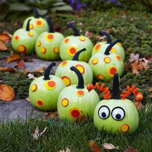 No-Carve Caterpillar Pumpkin.