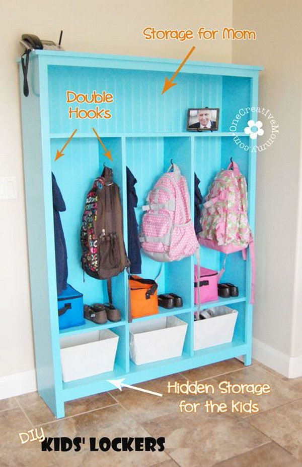 Easy Diy Kids Room Wall Storage And Shelves