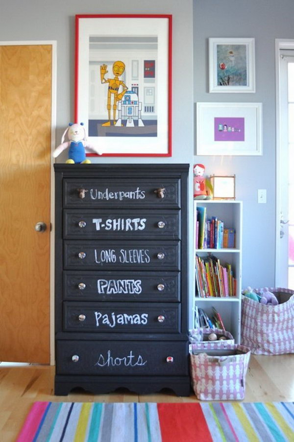 Label Drawers With Chalk