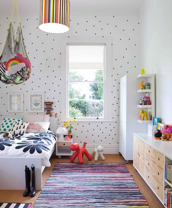 21 Creative Accent Wall Ideas For Trendy Kids Bedrooms: 25 Creative DIY Storage Ideas To Organize Kids' Room