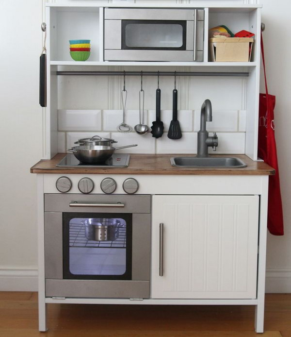IKEA Hacks for Play Kitchen. See more