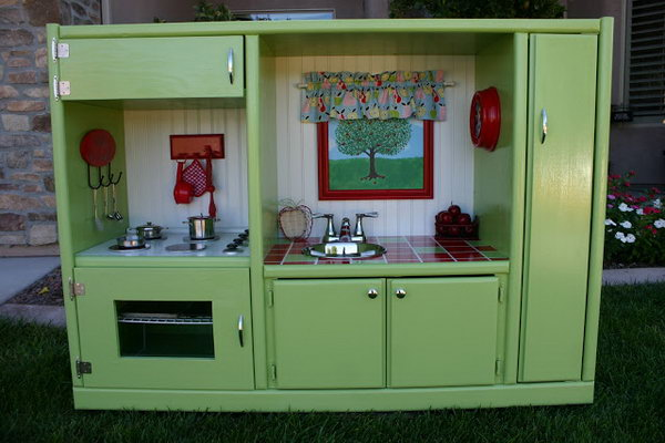 A Home Entertainment Unit Turned Play Kitchen. See more